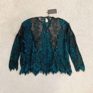 ZARA Flowy Lace Blouse Top